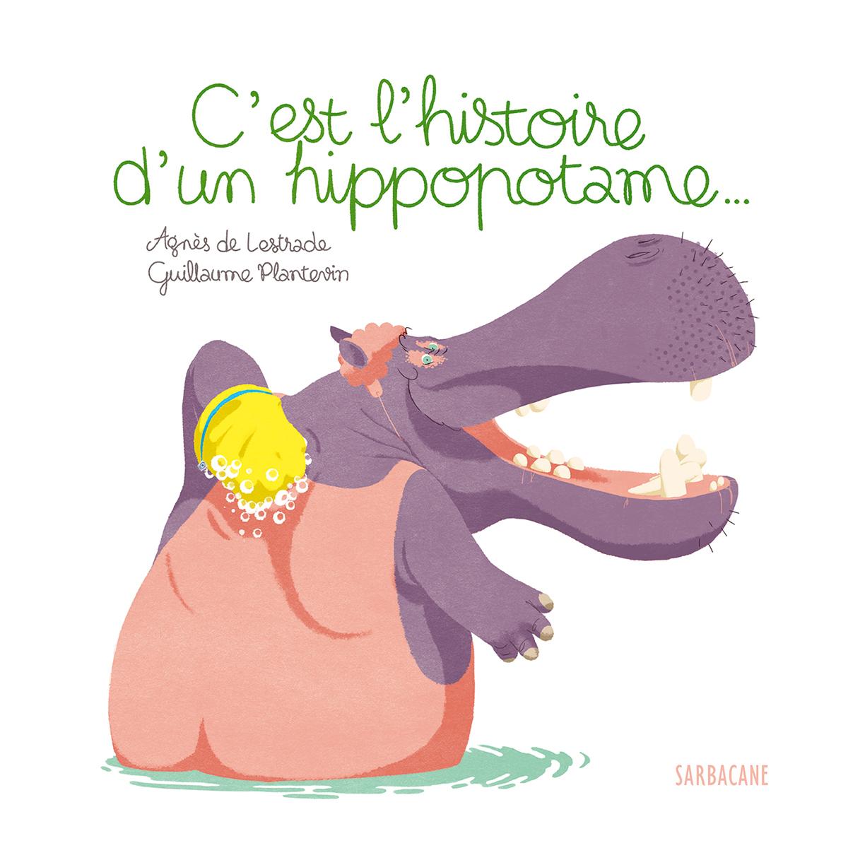 Livre & Carte C'est l'Histoire d'un Hippopotame C'est l'Histoire d'un Hippopotame