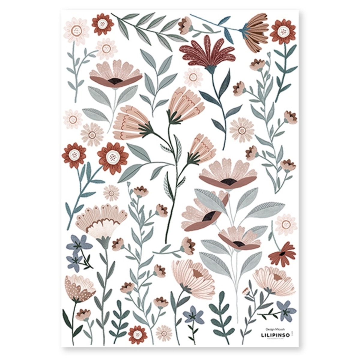 Sticker Planche de Stickers - Ocean Flowers Planche de Stickers - Ocean Flowers