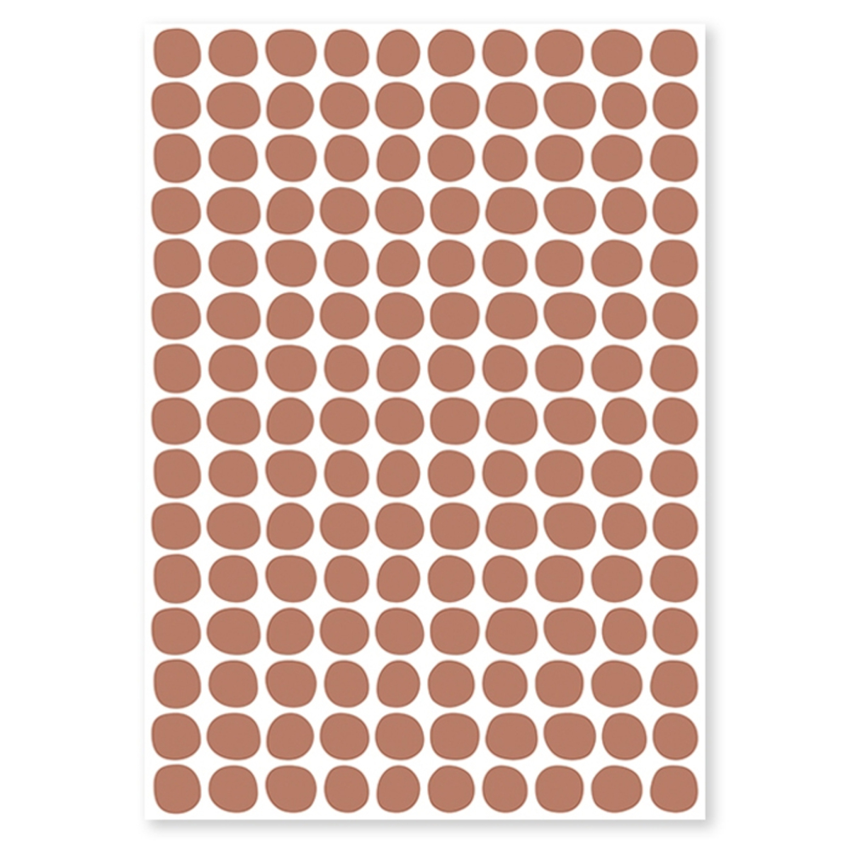 Sticker Planche de Stickers - Pois Terracotta Planche de Stickers - Pois Terracotta