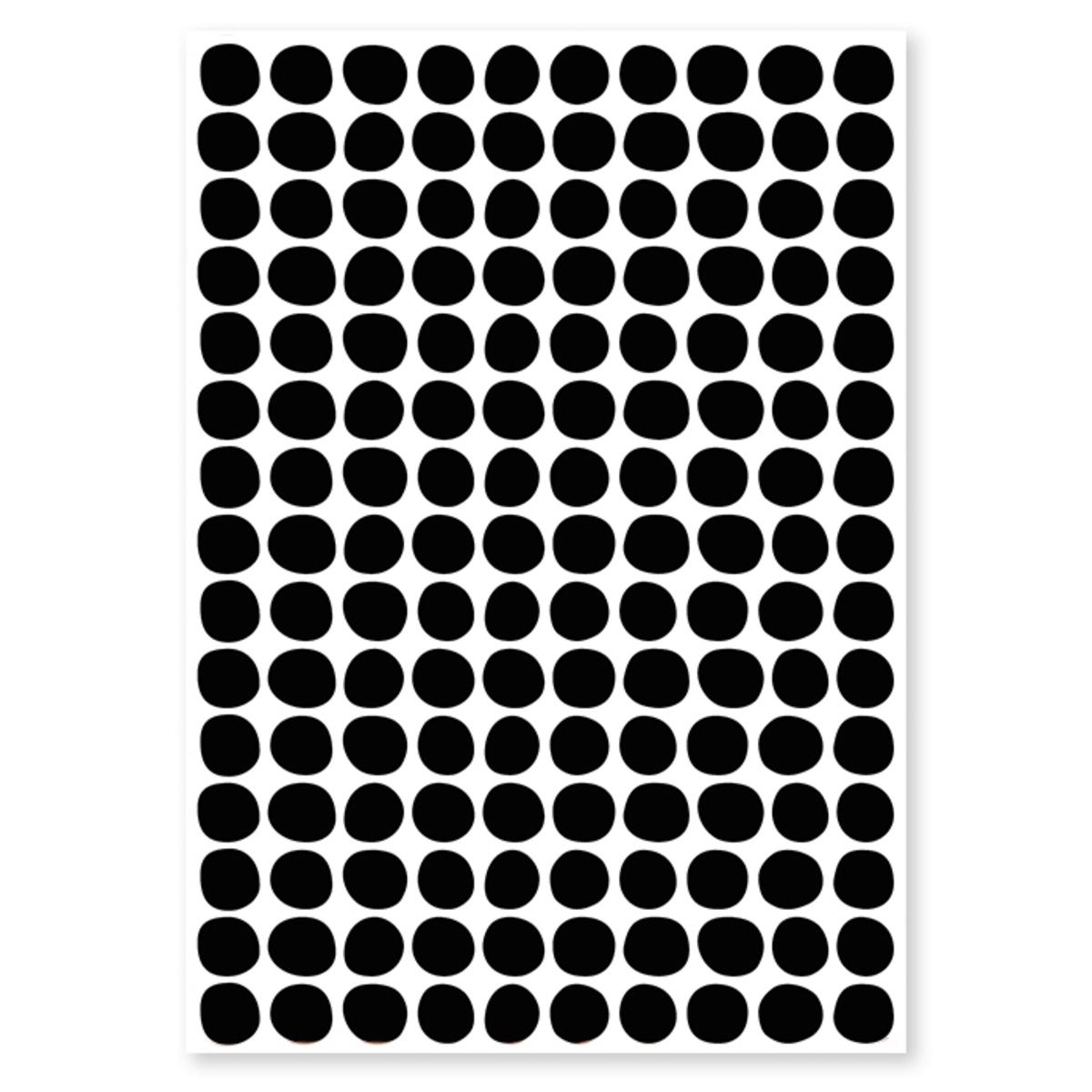 Sticker Planche de Stickers - Pois Noir Planche de Stickers - Pois Noir