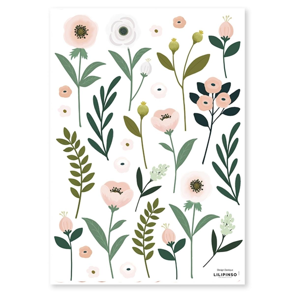 Sticker Planche de Stickers - Fleurs et Feuillages Planche de Stickers - Fleurs et Feuillages