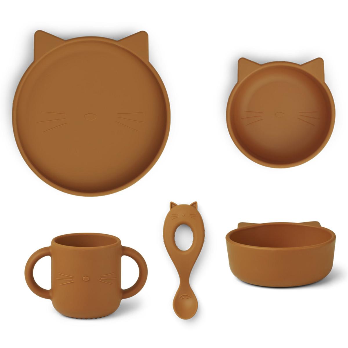 Coffret repas Set Repas 4 Pièces Vivi - Cat Mustard Set Repas 4 Pièces Vivi - Cat Mustard