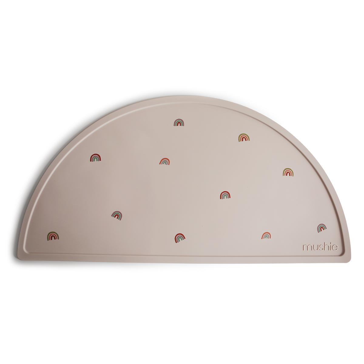 Vaisselle & Couvert Set de Table Mushie - Beige et Arcs-en-ciel Set de Table Mushie - Beige et Arcs-en-ciel