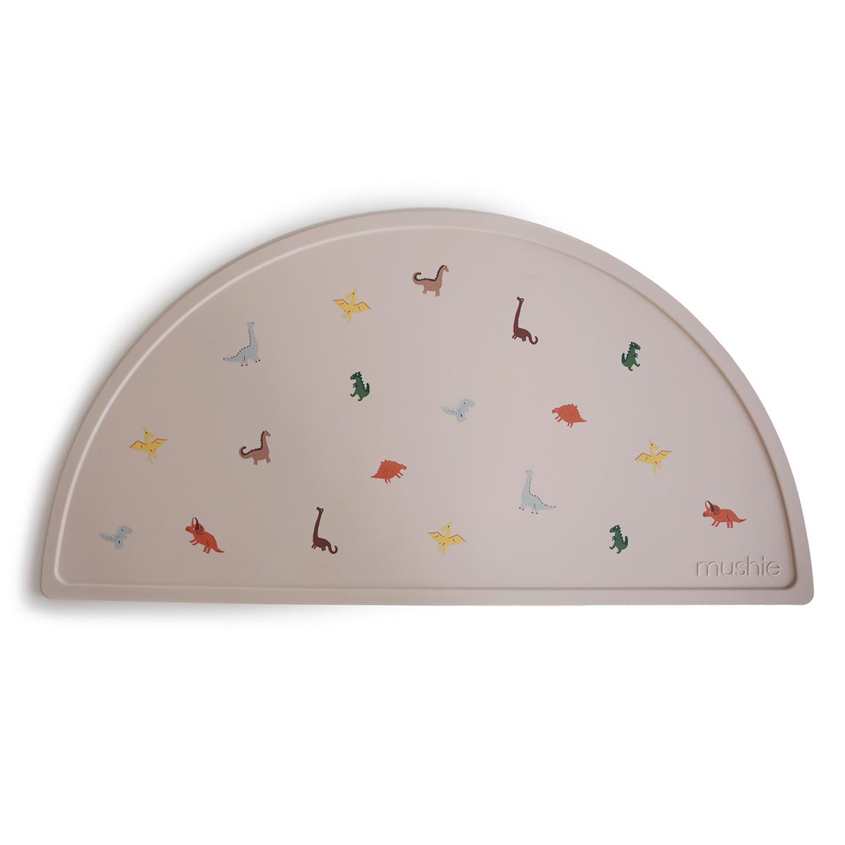 Vaisselle & Couvert Set de Table Mushie - Beige et Dinosaures Set de Table Mushie - Beige et Dinosaures