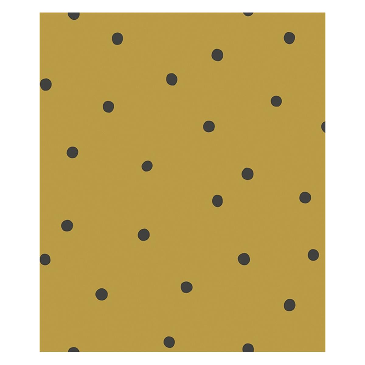 Papier peint Papier Peint Minima - Moutarde et Pois Noirs Papier Peint Minima - Moutarde et Pois Noirs