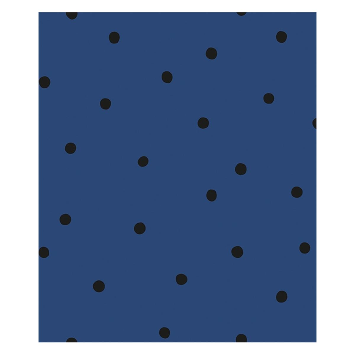 Papier peint Papier Peint Minima - Bleu Marine et Pois Noirs Papier Peint Minima - Bleu Marine et Pois Noirs