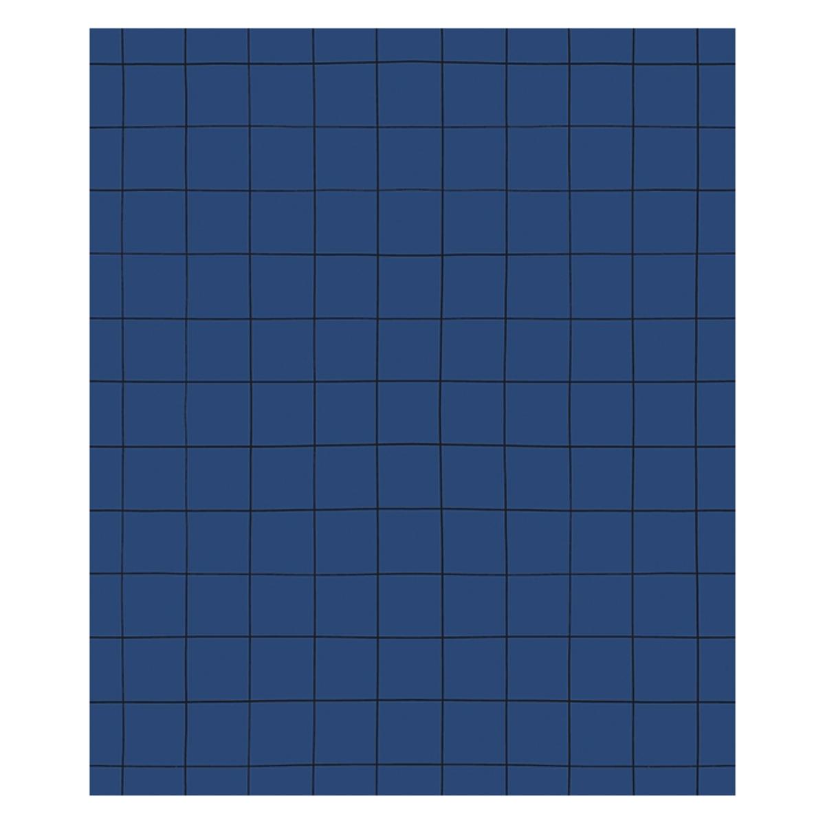 Papier peint Papier Peint Minima - Bleu Marine et Quadrillage Papier Peint Minima - Bleu Marine et Quadrillage