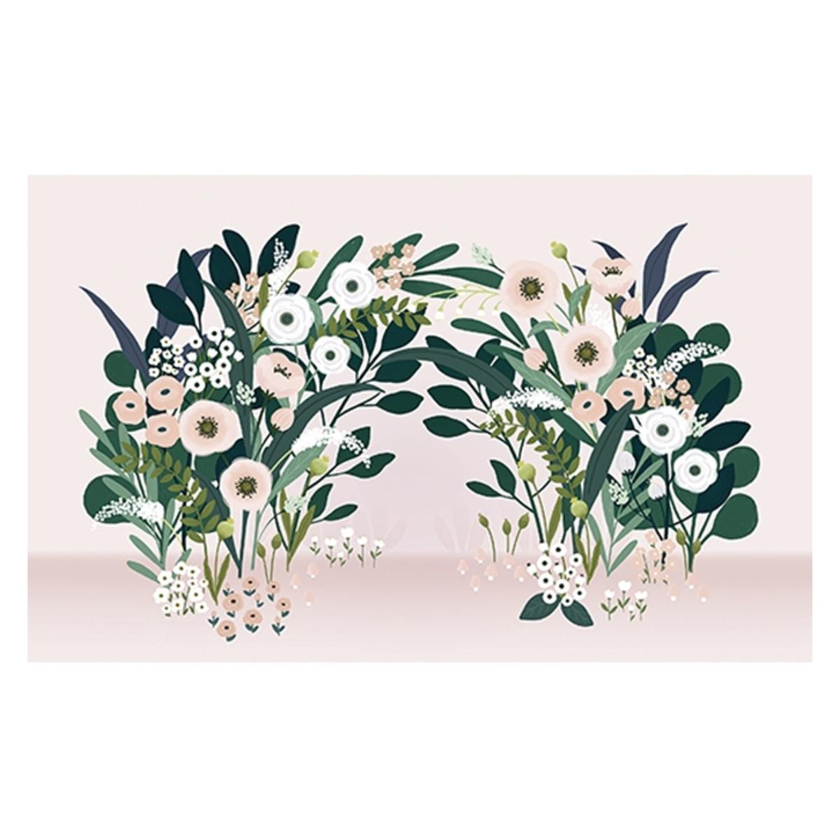 Papier peint Fresque - Arche de Fleurs Fresque - Arche de Fleurs