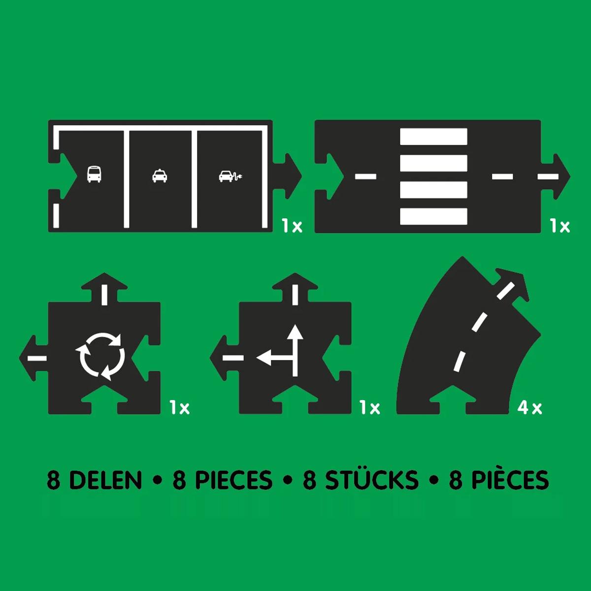 Mes premiers jouets Set d'Extension 8 Pièces pour Circuit Set d'Extension 8 Pièces pour Circuit
