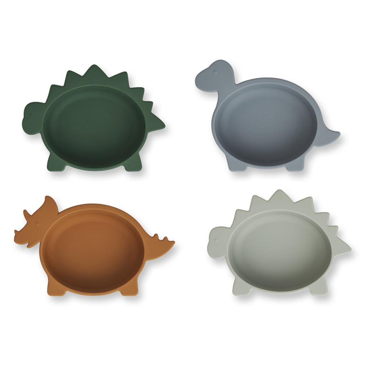 Vaisselle & Couvert Lot de 4 Bols en Silicone Iggy - Dino Blue Multi Mix Lot de 4 Bols en Silicone Iggy - Dino Blue Multi Mix