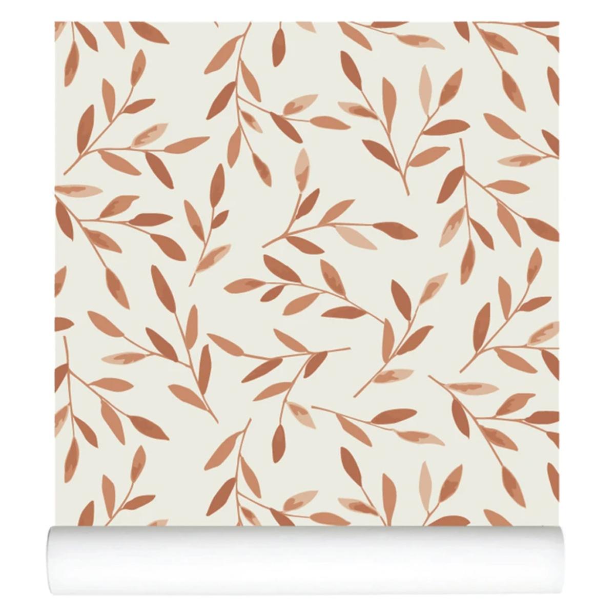 Papier peint Papier Peint - Caramel Leaves Papier Peint - Caramel Leaves