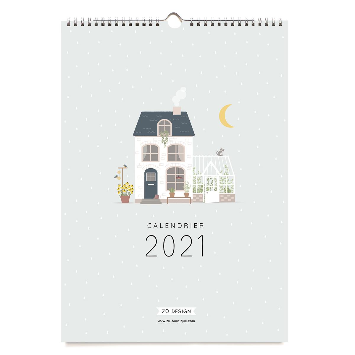 Livre & Carte Calendrier Mural 2021 Calendrier Mural 2021
