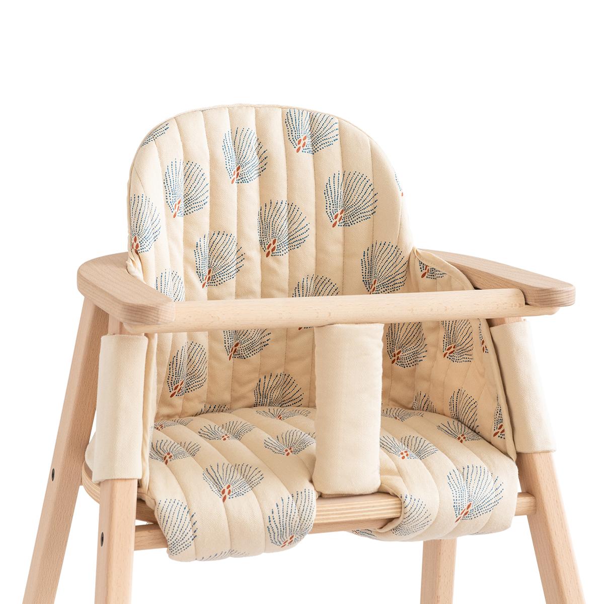 Chaise haute Coussin pour Chaise Haute Growing Green - Blue Gatsby & Cream Coussin pour Chaise Haute Growing Green - Blue Gatsby & Cream