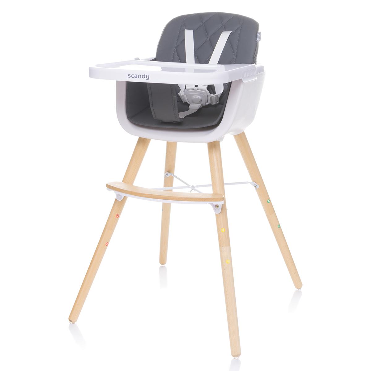 Chaise haute Chaise Haute Scandy - Dark Grey Chaise Haute Scandy - Dark Grey