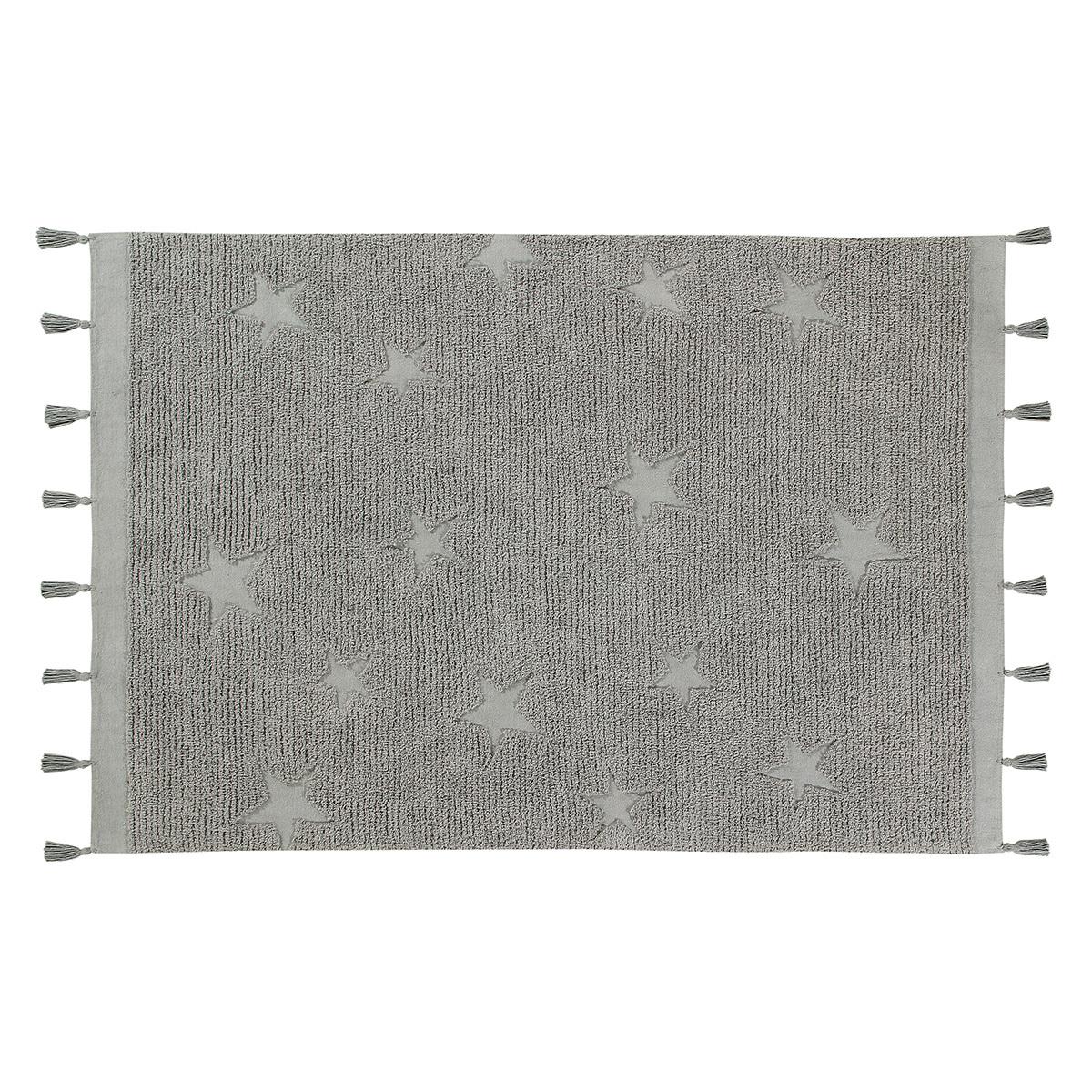Tapis Tapis Lavable Hippy Stars Gris - 120 x 175 cm Tapis Lavable Hippy Stars Gris - 120 x 175 cm