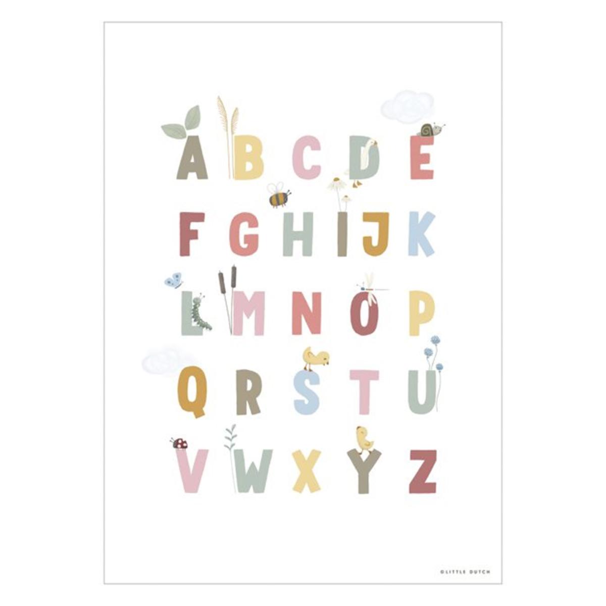 Affiche & poster Poster Réversible Alphabet et Chiffres Little Goose - Pink Poster Réversible Alphabet et Chiffres Little Goose - Pink