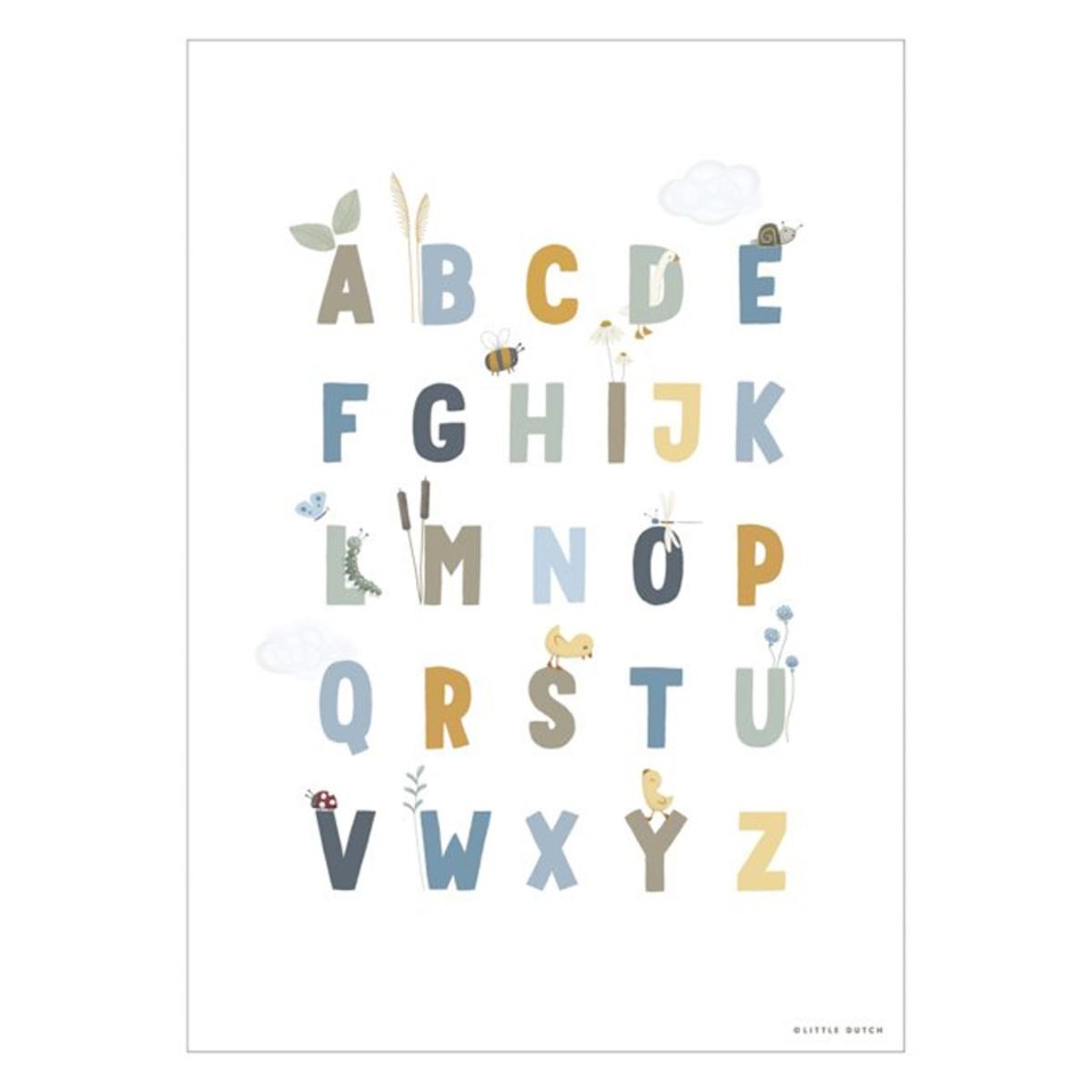 Affiche & poster Poster Réversible Alphabet et Chiffres Little Goose - Blue Poster Réversible Alphabet et Chiffres Little Goose - Blue