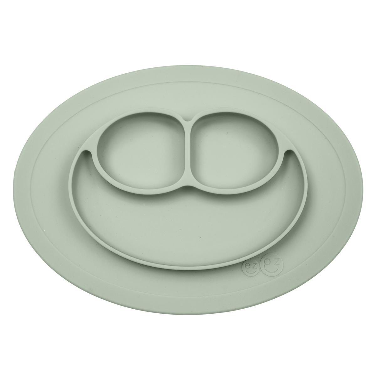 Vaisselle & Couvert Set de Table et Assiette Tout-en-1 Irrenversable Mini Mat - Vert Amande Set de Table et Assiette Tout-en-1 Irrenversable Mini Mat - Vert Amande