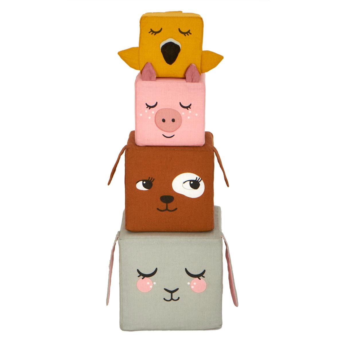 Mes premiers jouets Cubes en Tissu Les Animaux de la Ferme Cubes en Tissu Les Animaux de la Ferme