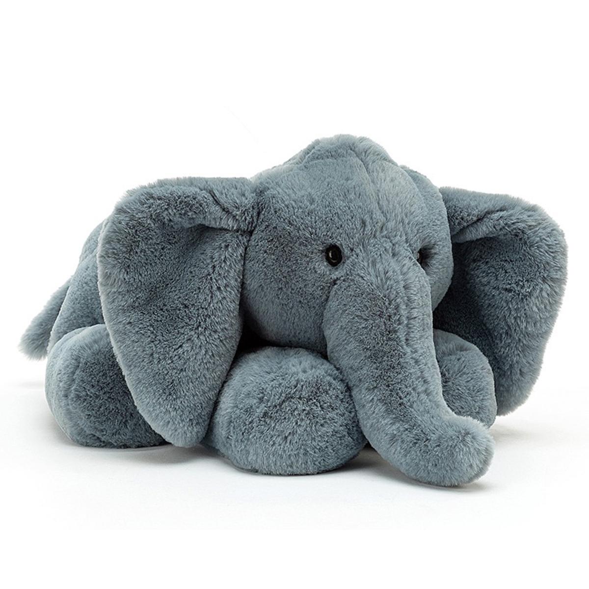 Peluche Huggady Elephant - Large Peluche Eléphant 32 cm