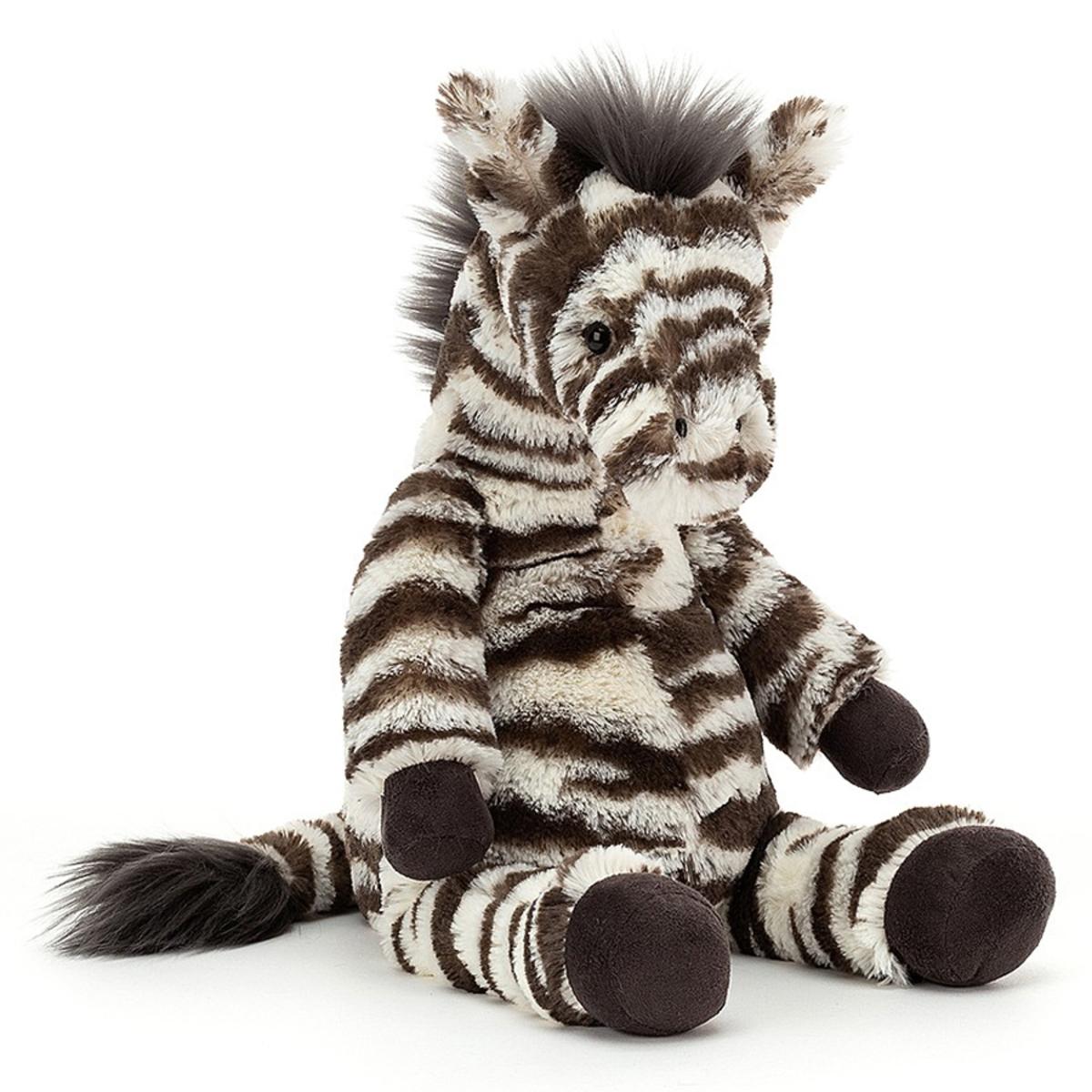 Peluche Lallagie Zebra Peluche Zèbre 39 cm