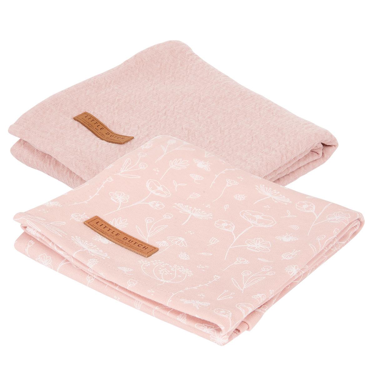 Lange Lot de 2 Langes Wild Flowers & Pure - Pink Lot de 2 Langes Wild Flowers & Pure - Pink