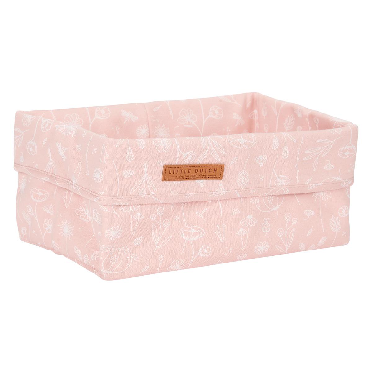Panier & corbeille Panier de Commode Grand Wild Flowers - Pink Panier de Commode Grand Wild Flowers - Pink