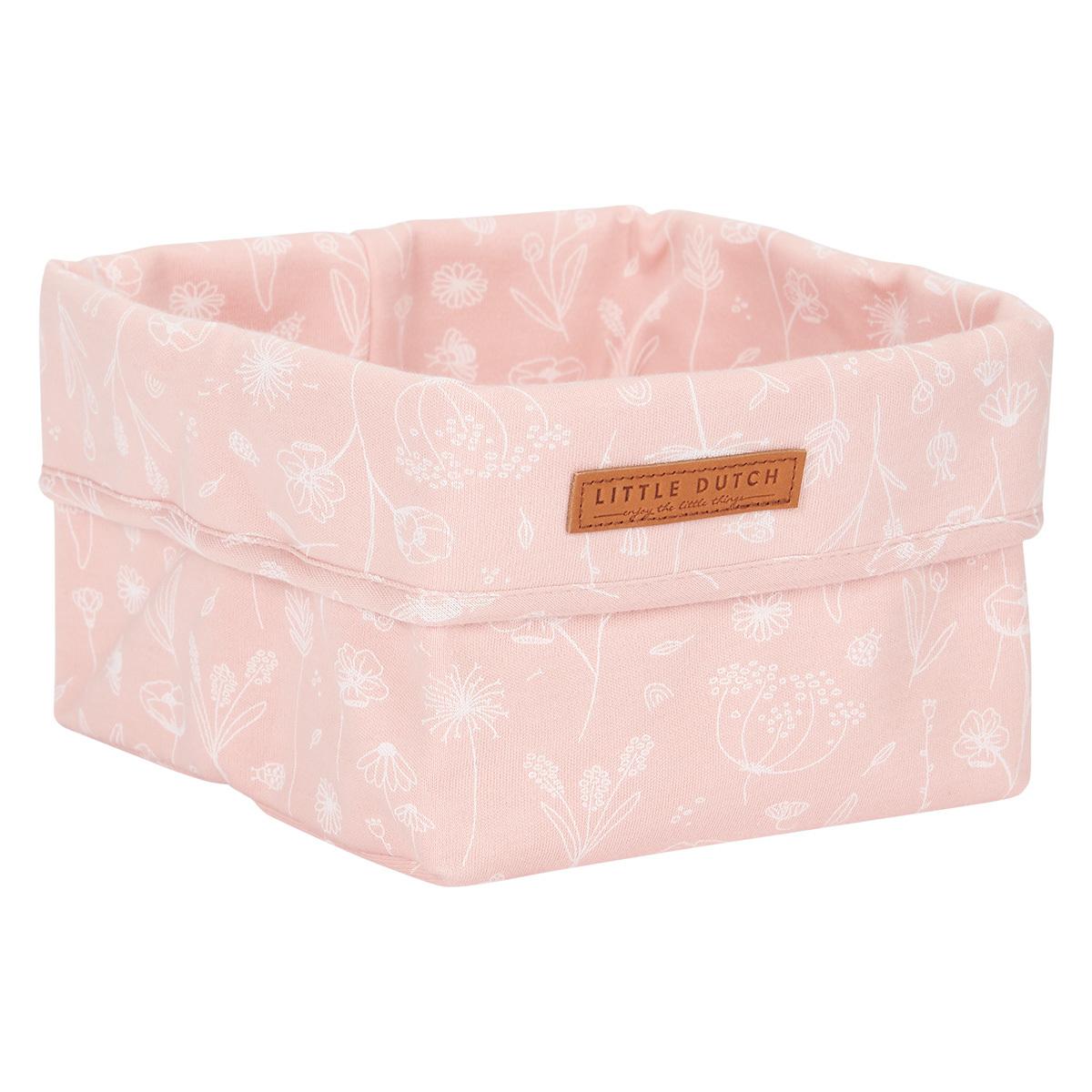 Panier & corbeille Panier de Commode Petit Wild Flowers - Pink Panier de Commode Petit Wild Flowers - Pink