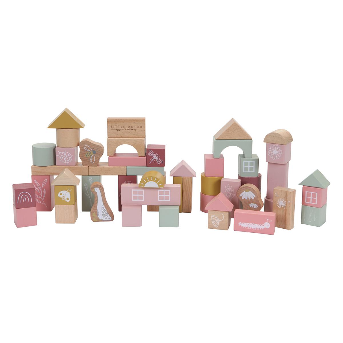Mes premiers jouets Blocs de Construction en Bois - Rose Blocs de Construction en Bois - Rose