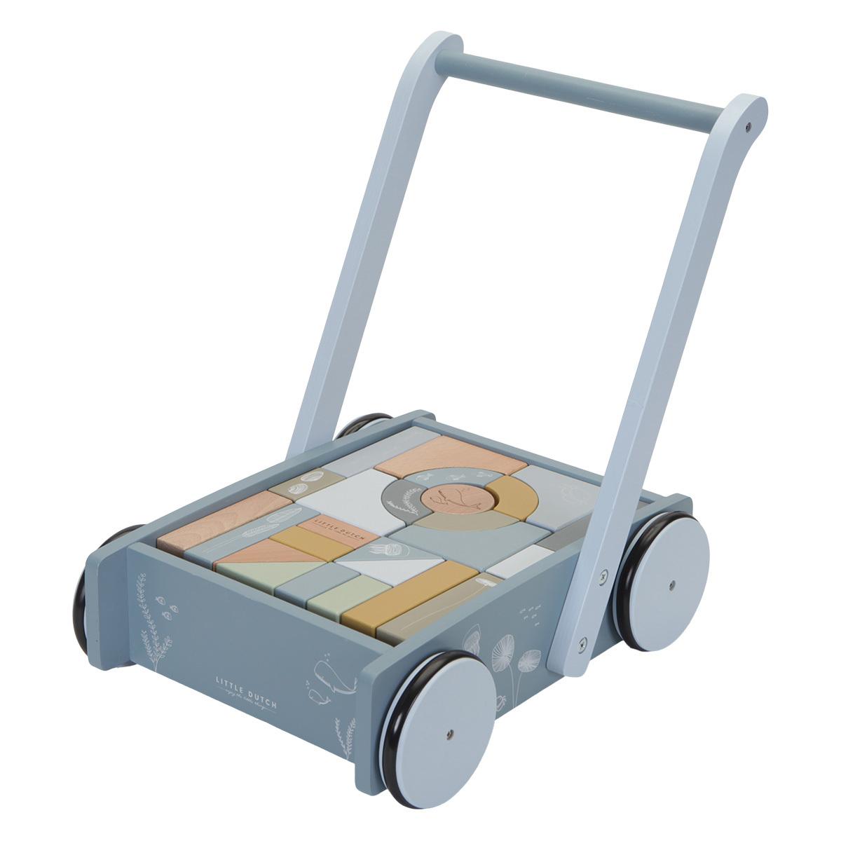 Mes premiers jouets Chariot à Blocs Ocean - Bleu Chariot à Blocs Ocean - Bleu