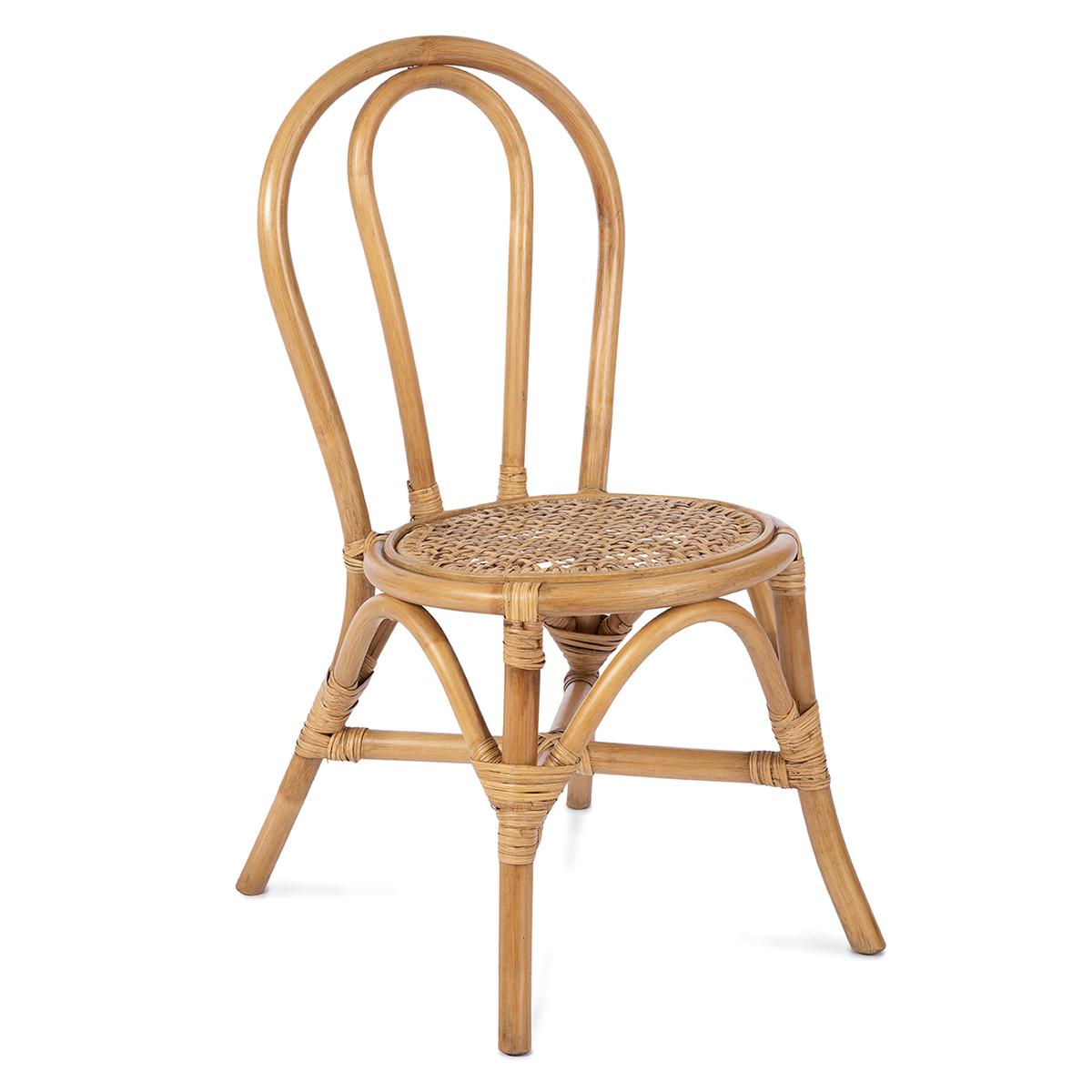 Table & Chaise Chaise Enfant en Rotin Ava - Naturel Chaise Enfant en Rotin Ava - Naturel