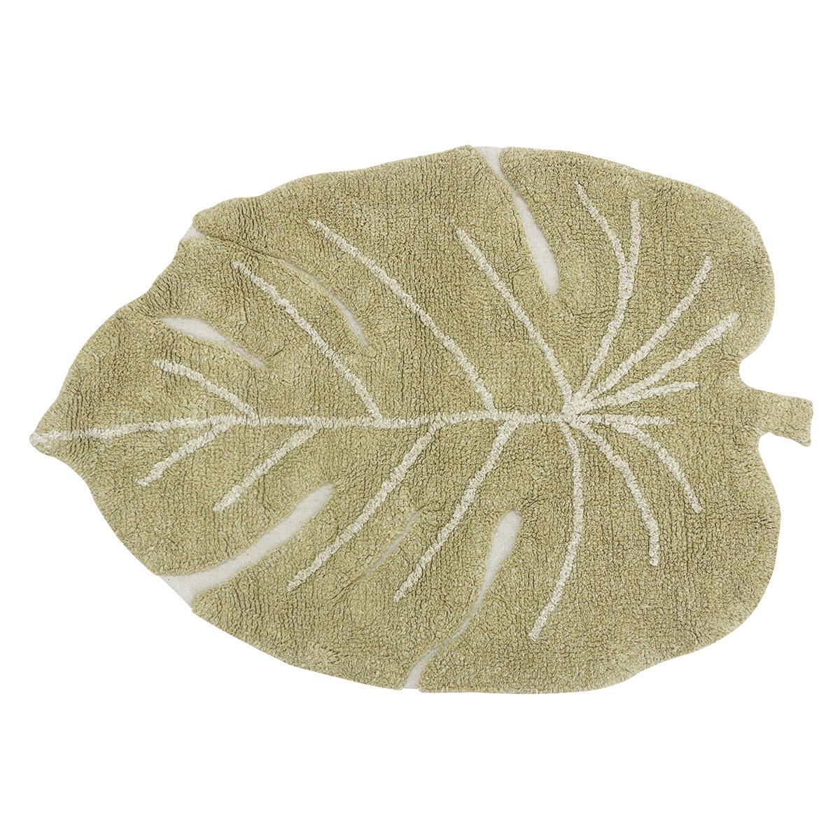 Tapis Tapis Lavable Mini Monstera Olive - 75 x 100 cm Tapis Lavable Mini Monstera Olive - 75 x 100 cm