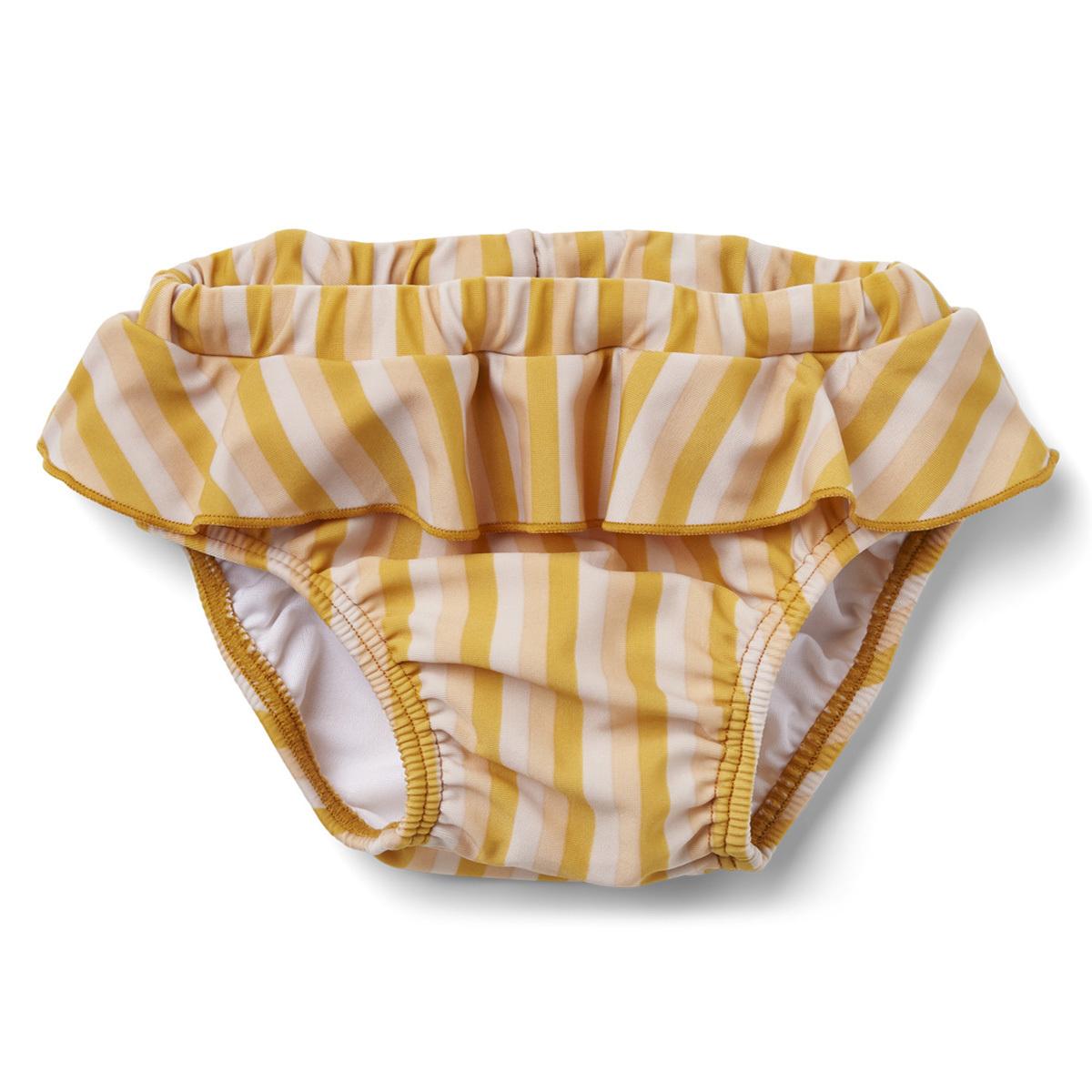 Accessoires bébé Culotte de Bain Elise Rayée Peach Sandy & Yellow Mellow - 3/9 Mois Culotte de Bain Elise Rayée Peach Sandy & Yellow Mellow - 3/9 Mois