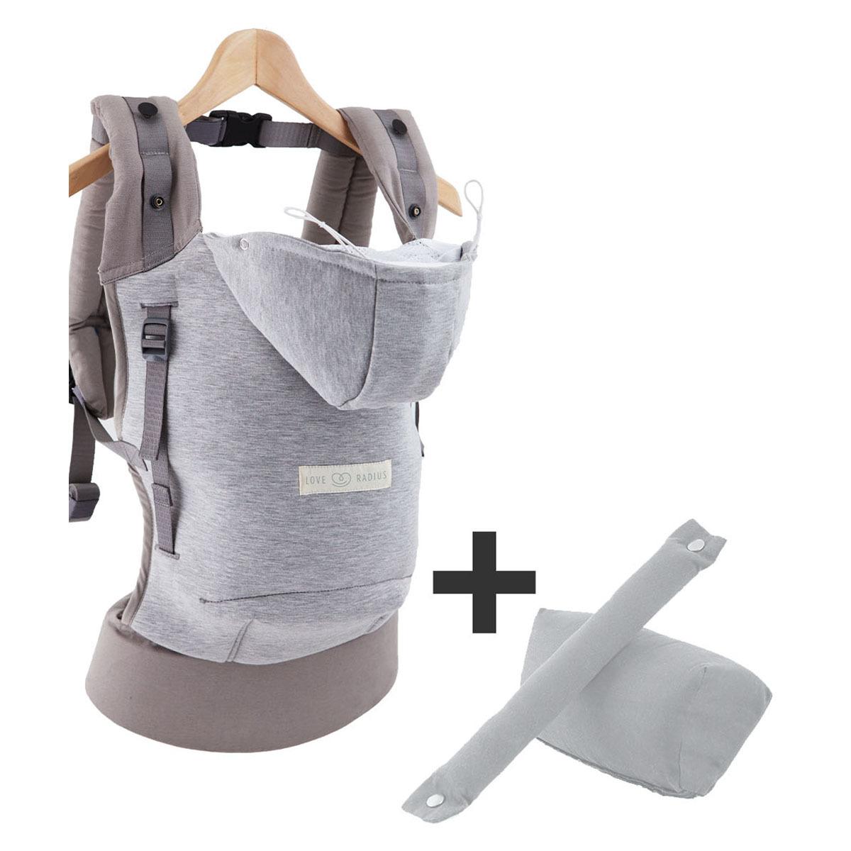 Porte bébé Hoodiecarrier et Booster Pack - Gris Athlétique Hoodiecarrier et Booster Pack - Gris Athlétique