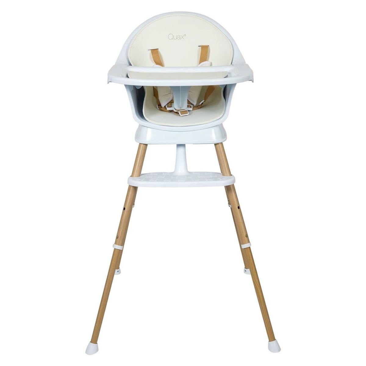 Chaise haute Chaise Haute Ultimo 3 Luxe - White & Naturel Chaise Haute Ultimo 3 Luxe - White & Naturel