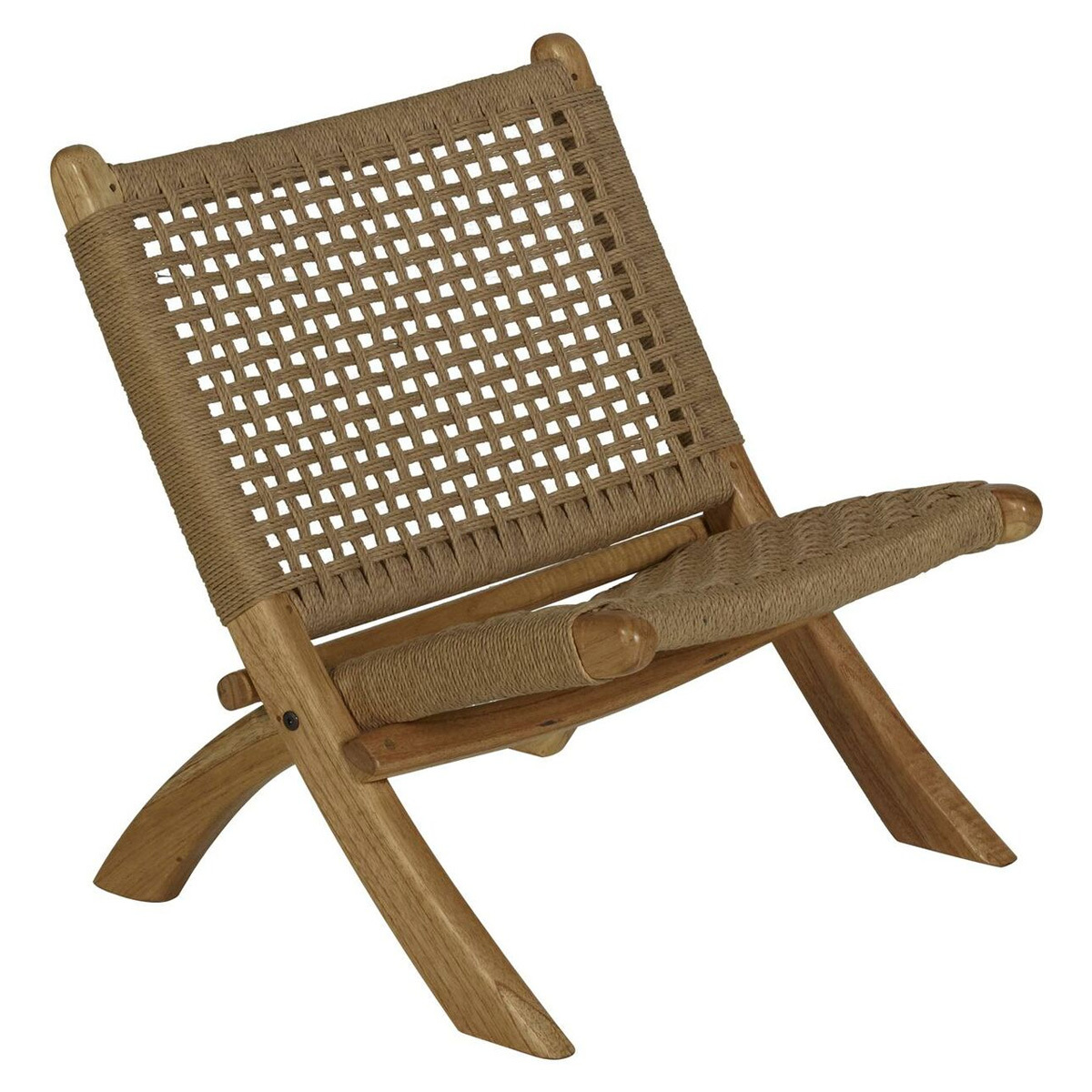 Fauteuil Folding Kids Chair Loom Rope - Naturel Folding Kids Chair Loom Rope - Naturel