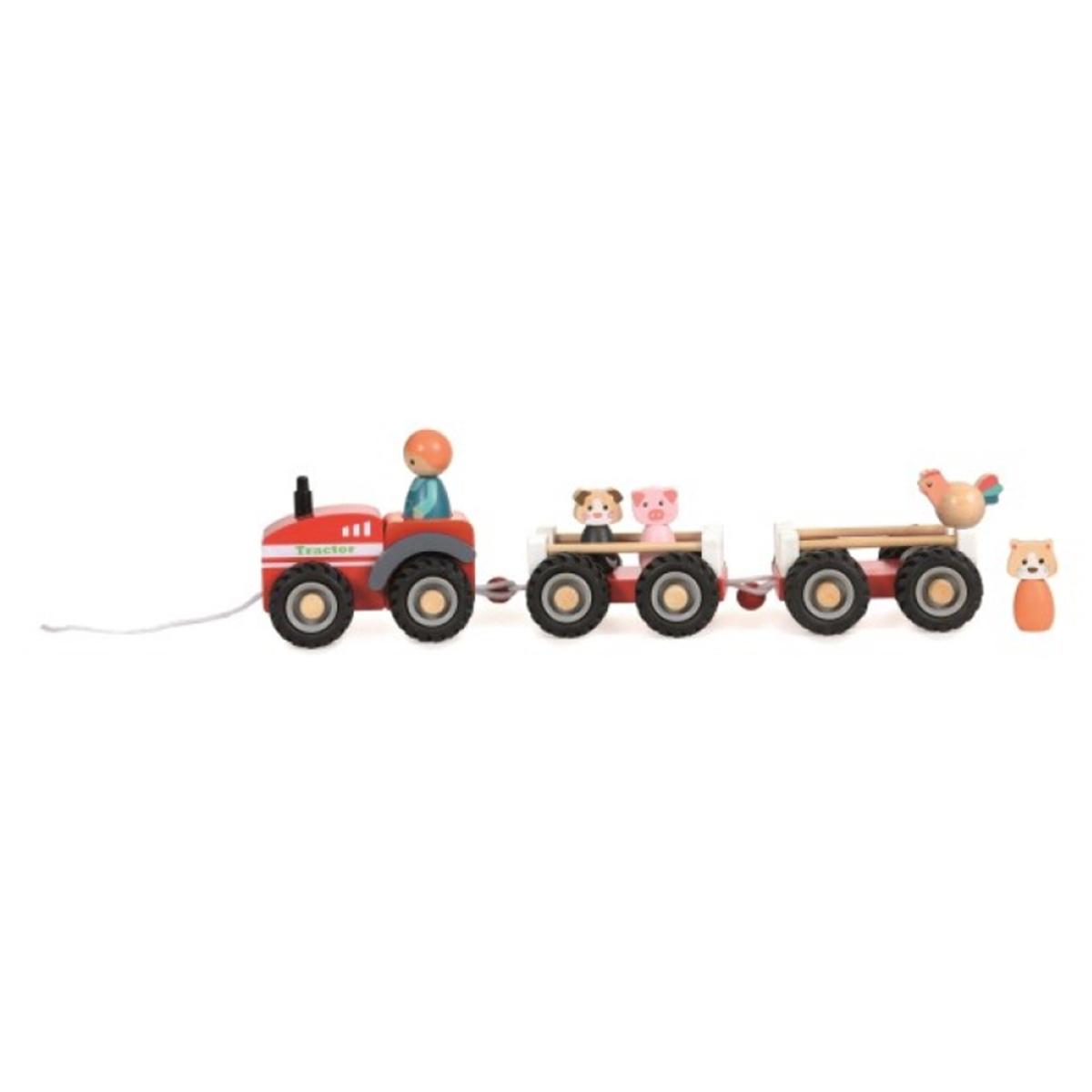 Mes premiers jouets Tracteur de la Ferme et ses 2 Remorques Tracteur de la Ferme et ses 2 Remorques