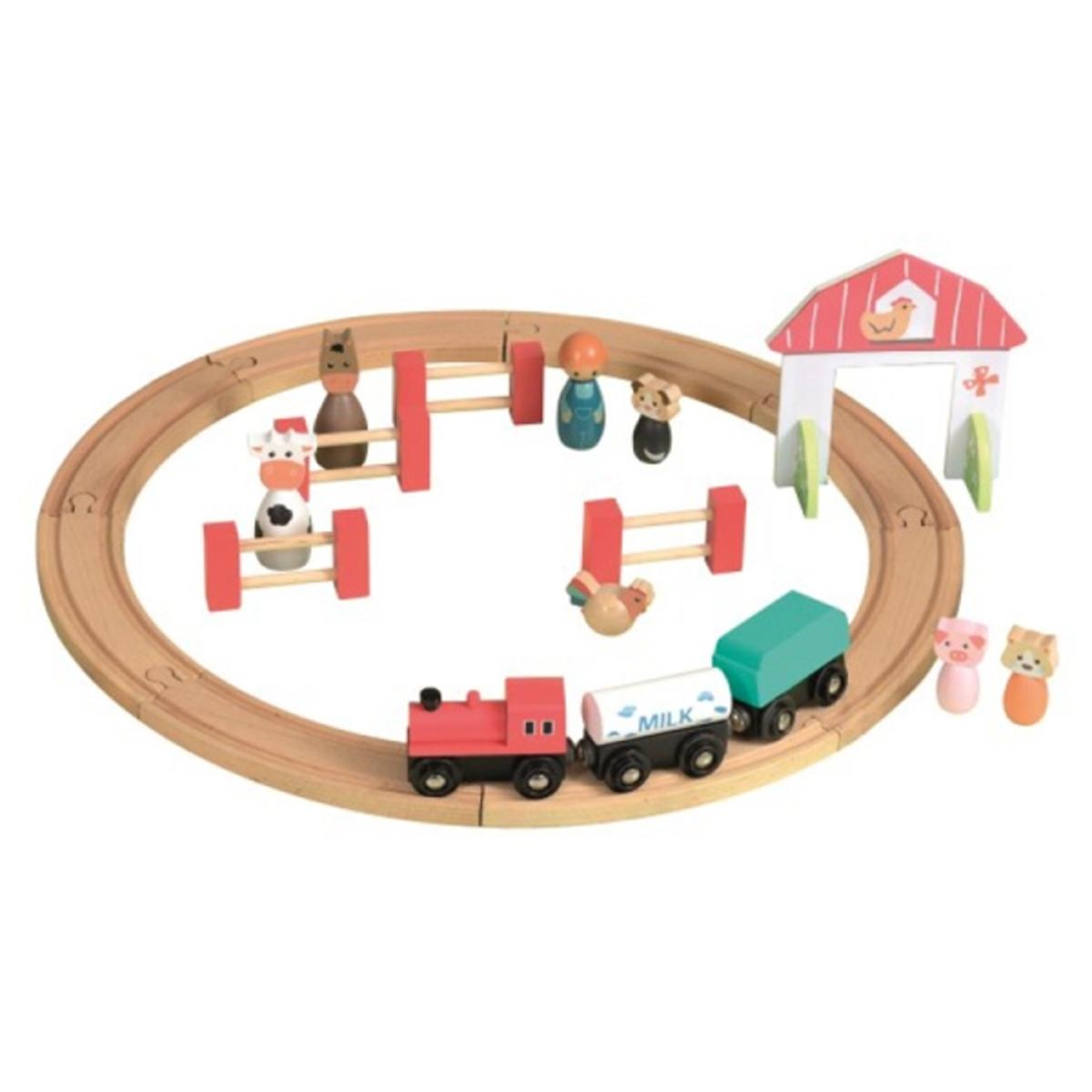 Mes premiers jouets Set de Train Ferme Set de Train Ferme