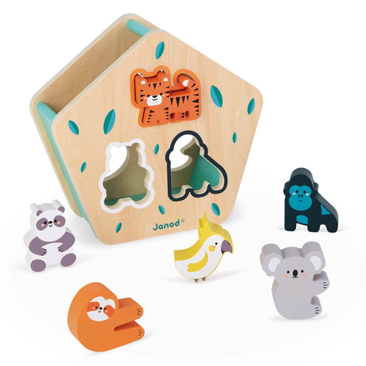 Mes premiers jouets Boîte à Formes des Animaux en Bois Boîte à Formes des Animaux en Bois