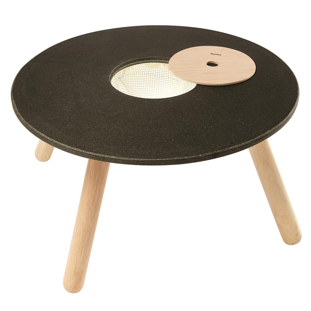 Table & Chaise Table de Jeux et Rangement - Naturel et Noir Table de Jeux et Rangement - Naturel et Noir