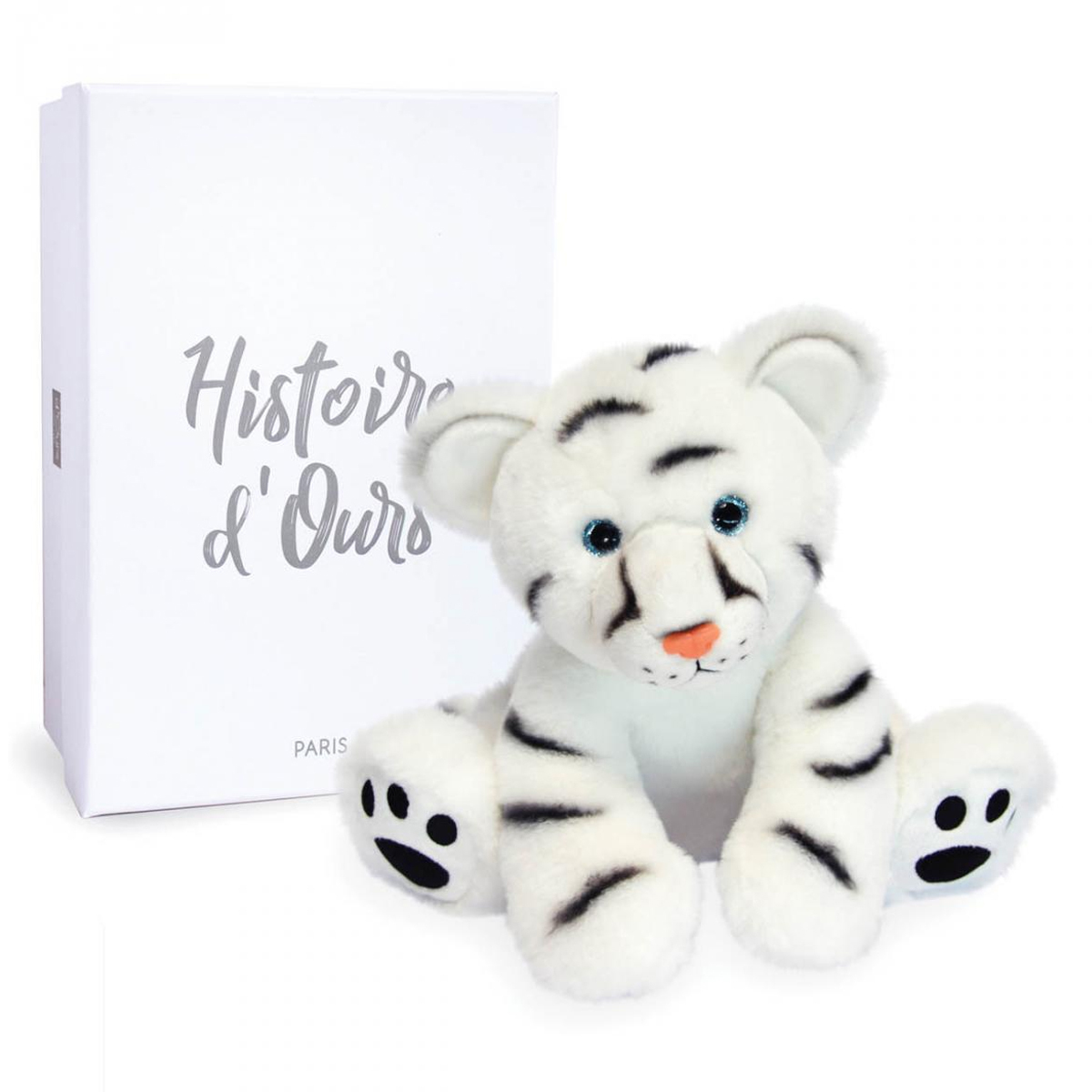 Peluche Bébé Tigre Blanc - Terre sauvage Peluche Tigre Blanc 25 cm