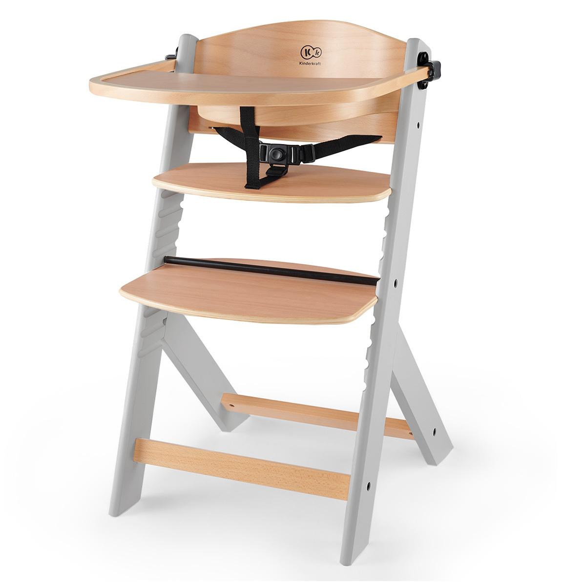 Chaise haute Chaise Haute ENOCK - Naturel et Gris Chaise Haute ENOCK - Naturel et Gris
