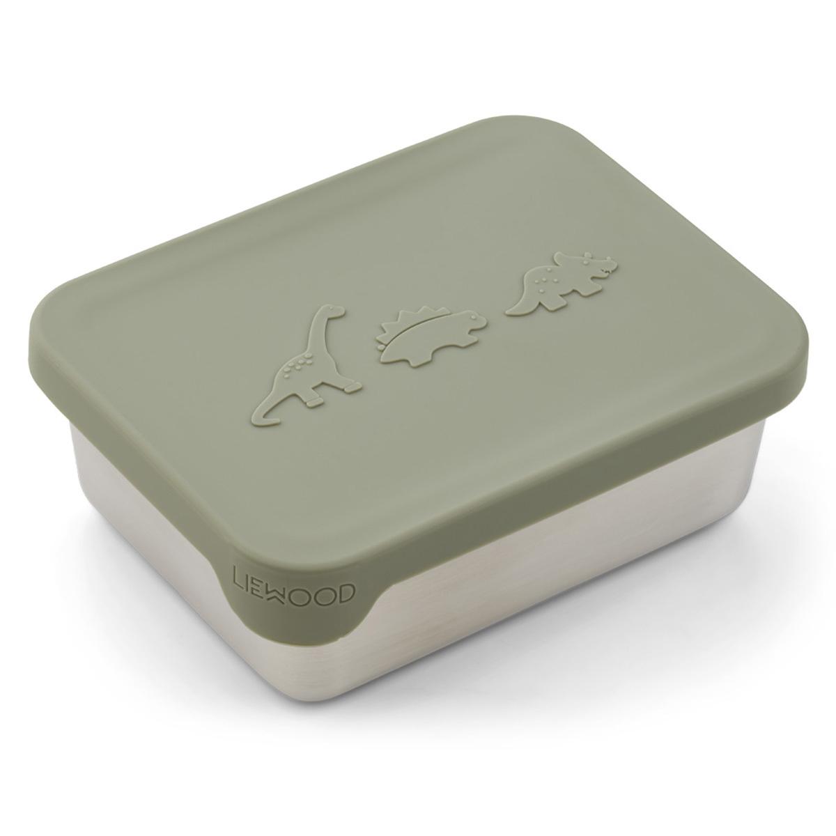 Vaisselle & Couvert Snackbox Ako - Dino Faune Green Snackbox Ako - Dino Faune Green