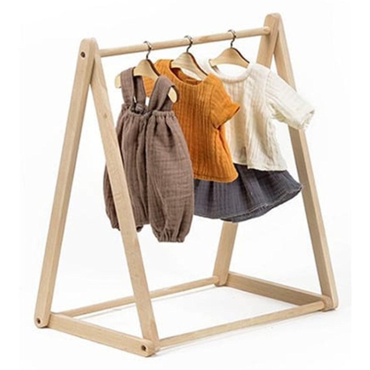 Mes premiers jouets Porte-vêtements pour Poupée en Bois - Naturel Porte-vêtements pour Poupée en Bois - Naturel