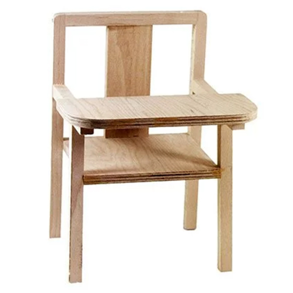 Mes premiers jouets Petite Chaise Haute pour Poupée en Bois Blaise - Naturel Petite Chaise Haute pour Poupée en Bois Blaise - Naturel
