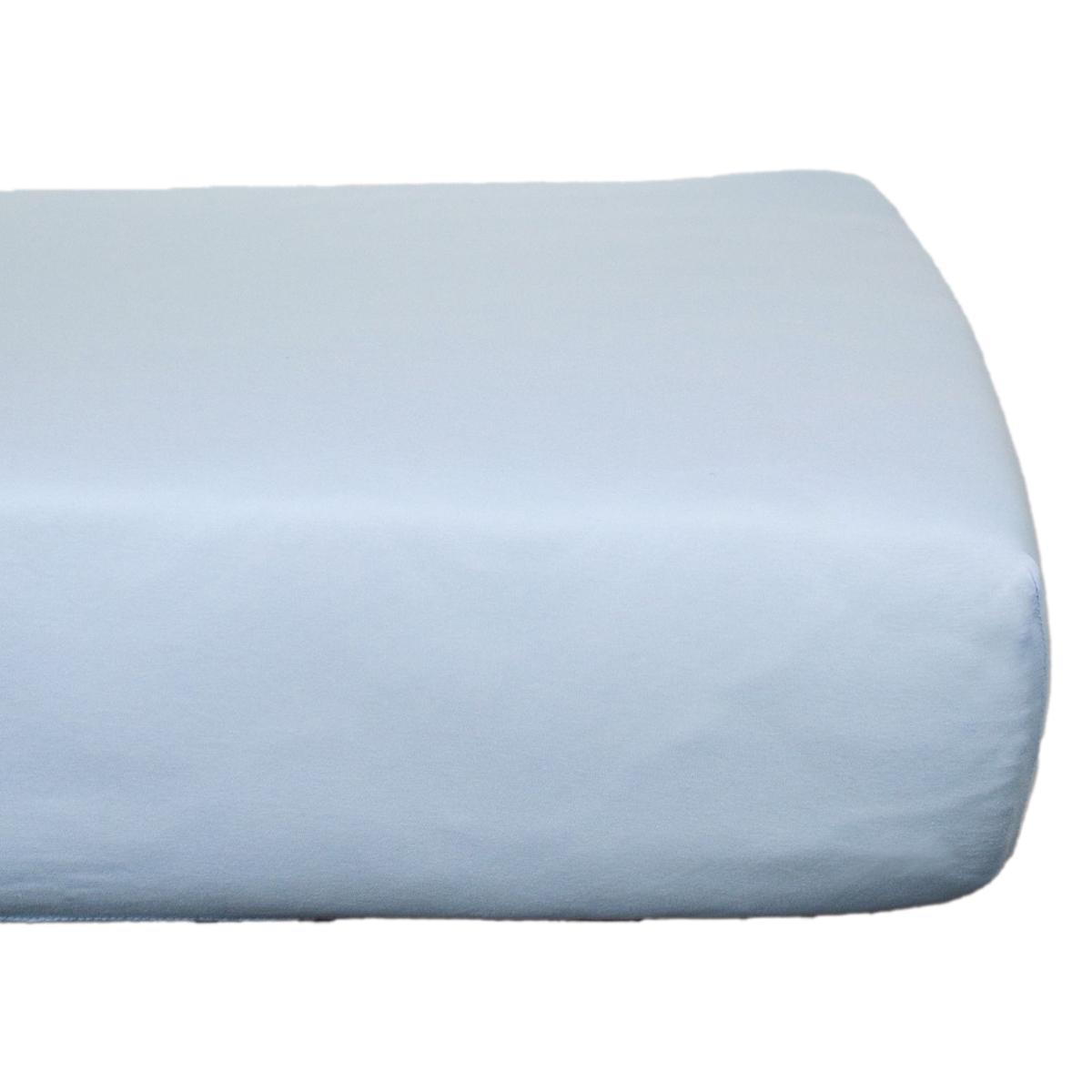 Linge de lit Drap Housse en Coton Bio Bleu Pastel - 60 x 120 cm Drap Housse en Coton Bio Bleu Pastel - 60 x 120 cm