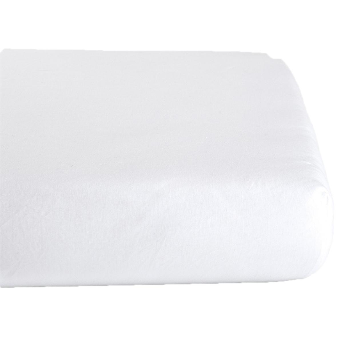 Linge de lit Drap Housse en Coton Bio Blanc - 70 x 140 cm Drap Housse en Coton Bio Blanc - 70 x 140 cm