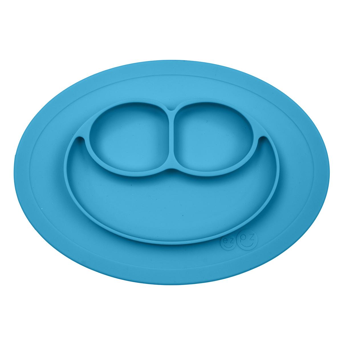 Vaisselle & Couvert Set de Table et Assiette Tout-en-1 Irrenversable Mini Mat - Bleu Set de Table et Assiette Tout-en-1 Irrenversable Mini Mat - Bleu