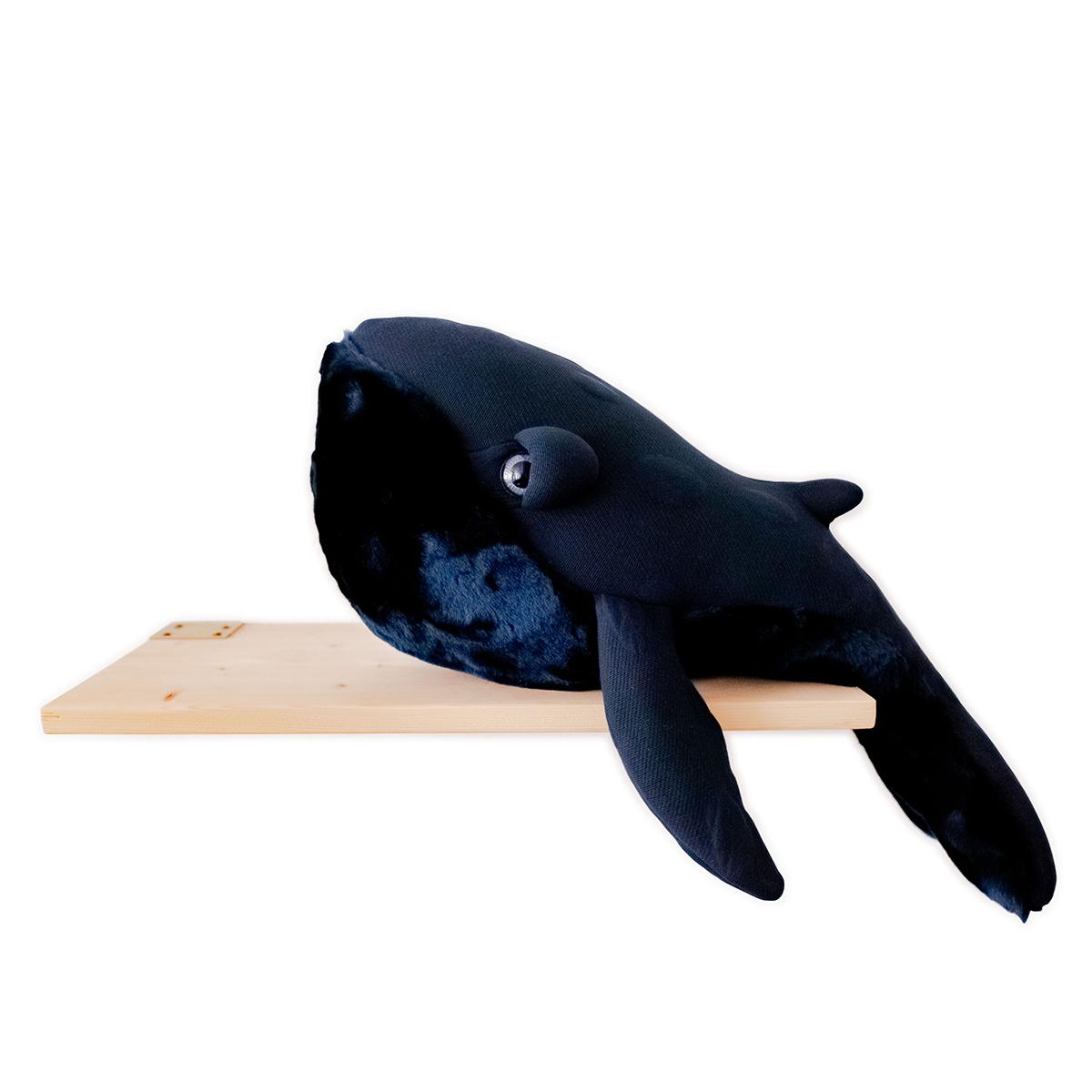 Peluche Petite Baleine Bleu Nuit Peluche Baleine 56 cm