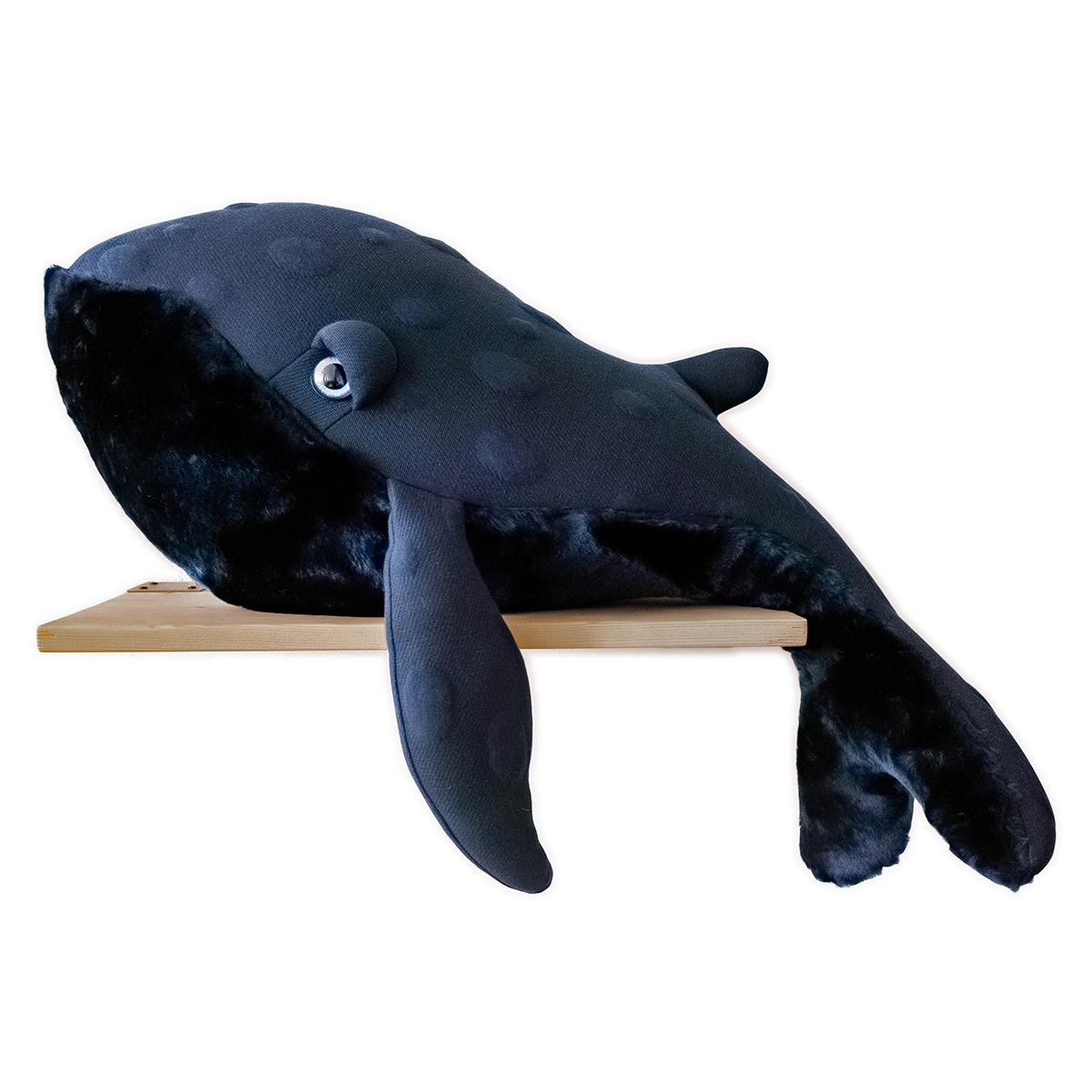 Peluche Grande Baleine Bleu Nuit Peluche Baleine 83 cm